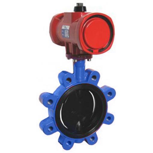vanne, Lug, fonte ductile, pneumatique