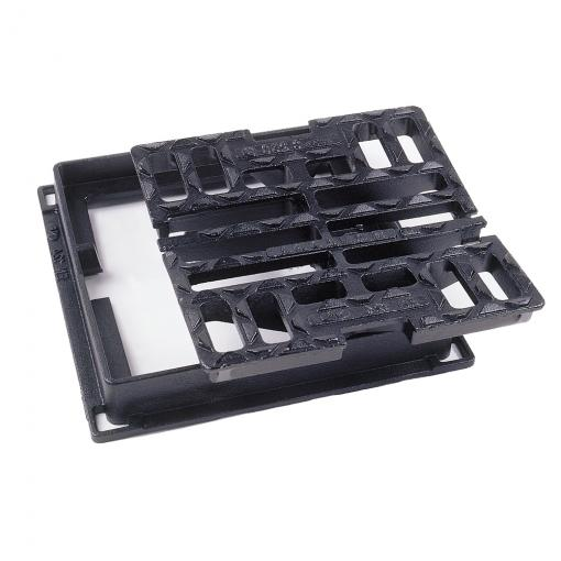 Grilles SQUADRA ® concaves à cadre plan à verrouillage automatique